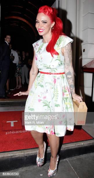 Jodie Marsh departs Sketch on April 25 2013 in London England