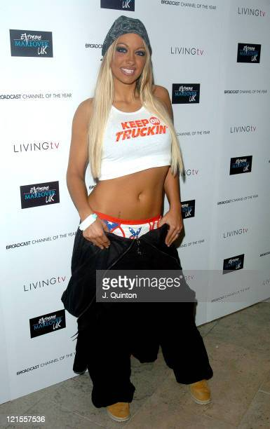 Jodie Marsh during Extreme Makeover UK Party at The Hospital Project in London, Great Britain.