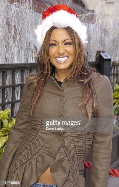 Jodie Marsh during Fight for Life Fundraiser December 12 2005 at Hard Rock Cafe Piccadilly in London Great Britain