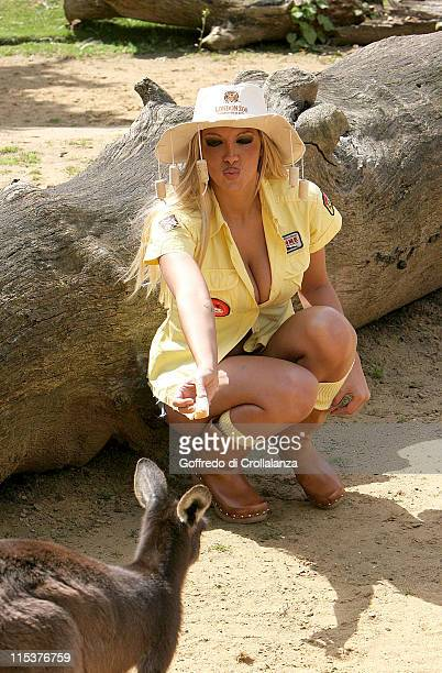 Jodie Marsh during Jodie Marsh Promotes Down Under Day at London Zoo at London Zoo in London Great Britain