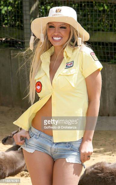 Jodie Marsh during Jodie Marsh Promotes 'Down Under Day' at London Zoo at London Zoo in London Great Britain