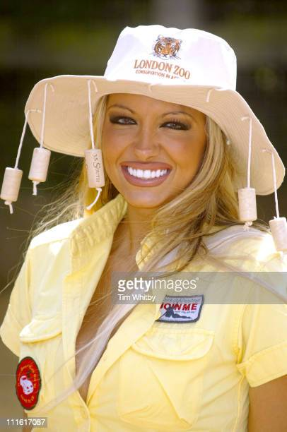 """Jodie Marsh during Jodie Marsh Promotes London Zoo's """"Down Under Day"""" at London Zoo in London, Great Britain."""