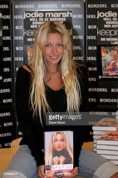 Jodie Marsh during Jodie Marsh Signs Her Book 'Keeping it Real' at Borders in Liverpool July 6 2005 at Border's in Liverpool Great Britain