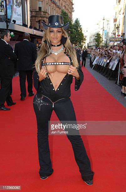 Jodie Marsh during 'Just My Luck' London Charity Premiere Inside Arrivals at Vue West End in London Great Britain