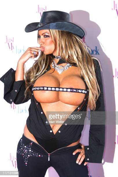 Jodie Marsh during Just My Luck London Film Premiere at Vue West End in London, Great Britain.