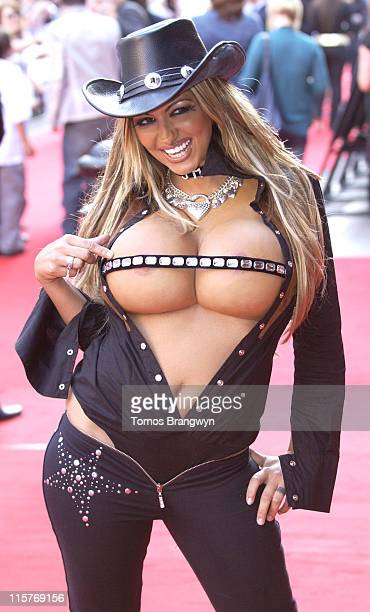 Jodie Marsh during Just My Luck UK Charity Premiere Outside Arrivals at Vue West End in London Great Britain