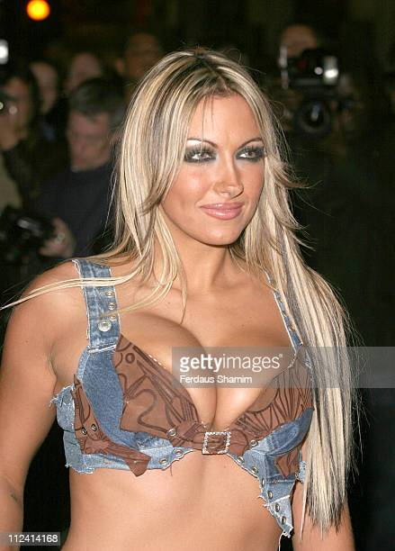 Jodie Marsh during Murderous Instincts Opening Night Arrivals at The Savoy Theatre in London Great Britain