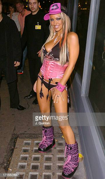 Jodie Marsh during Scarlet Magazine Launch Party at Suga Suga in London Great Britain
