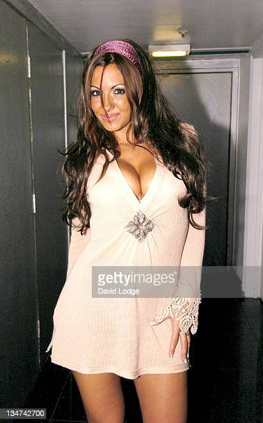 Jodie Marsh during Scott Henshall Fashion Party at Tantra in London Great Britain