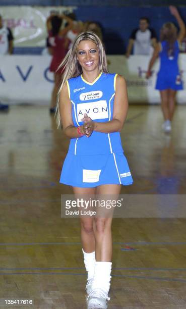 Jodie Marsh during The Celebrity Netball 7's at Crystal Palace Sports Centre in London Great Britain
