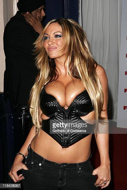 Jodie Marsh during The FHM 100 Sexiest Women In The World Party 2006 Outside Arrivals at Madame Tussauds in London Great Britain