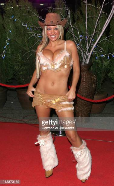 Jodie Marsh during TV Moments 2004 Awards Outside Arrivals at BBC Television Centre in London Great Britain