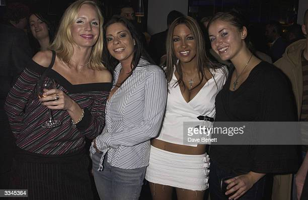 Jodie Marsh Lindsey Dawn McKenzie and friends attend the RV2 Indian Restaurant Launch Party at RV2 on October 31 2003 in London