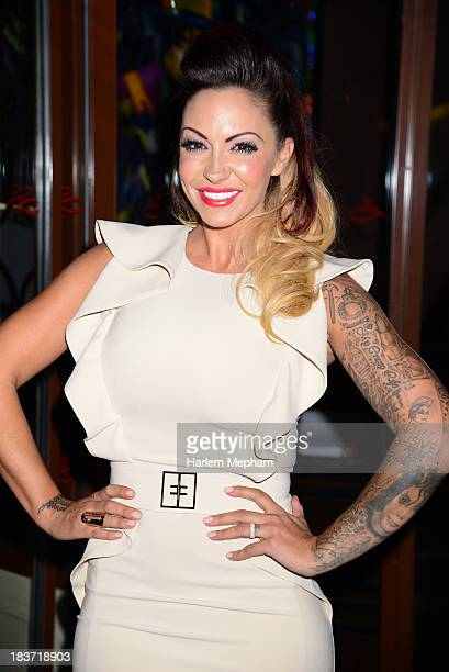 Jodie Marsh sighted arriving at the Soho Sanctum hotel on October 9 2013 in London England