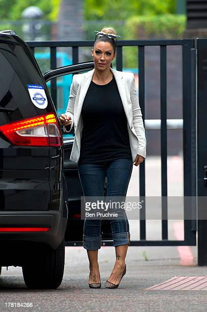 Jodie Marsh sighted at ITV Studios on August 27 2013 in London England