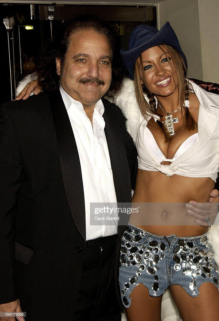 Jodie Marsh With American Porn Star Ron Jeremy, Gumball 3000 Movie Premiere At The Odeon, Leicester Square, London