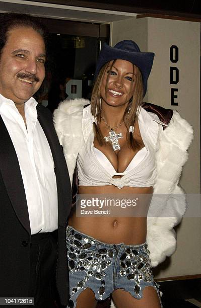 Jodie Marsh With American Porn Star Ron Jeremy Gumball 3000 Movie Premiere At The Odeon Leicester Square London