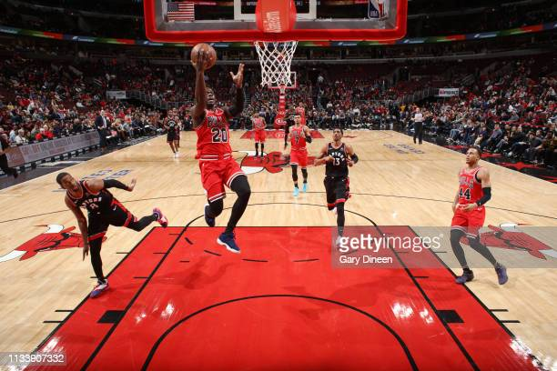 Jodie Meeks of the Chicago Bulls shoots the ball against the Toronto Raptors on March 30 2019 at the United Center in Chicago Illinois NOTE TO USER...