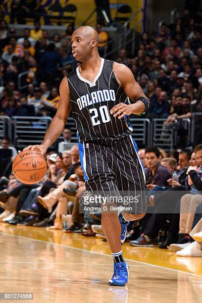 Jodie Meeks of the Orlando Magic handles the ball during the game against the Los Angeles Lakers on January 8 2017 at STAPLES Center in Los Angeles...