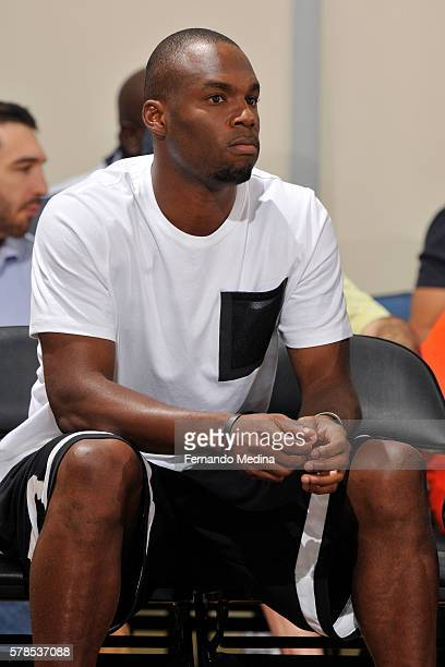 Jodie Meeks of the Orlando Magic is seen during the game between Magic Blue and Detroit Pistons during the 2016 Orlando Summer League on July 4 2016...