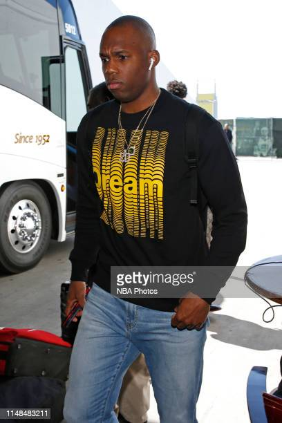 Jodie Meeks of the Toronto Raptors arrives to the arena before Game Four of the NBA Finals against the Golden State Warriors on June 7 2019 at Oracle...