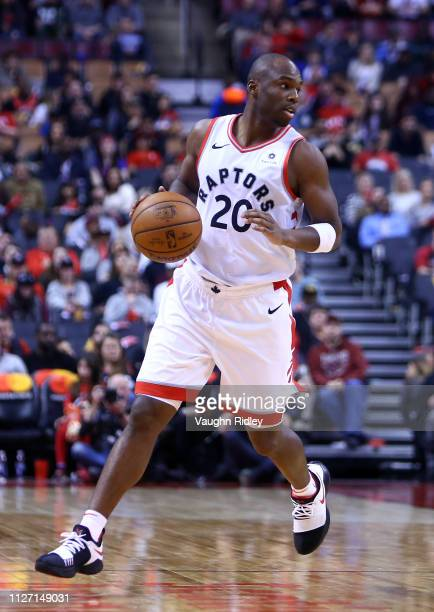 Jodie Meeks of the Toronto Raptors dribbles the ball during the second half of an NBA game against the Orlando Magic at Scotiabank Arena on February...
