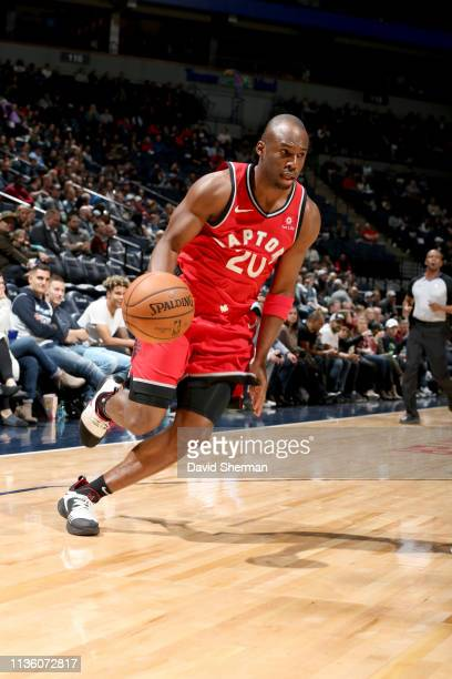 Jodie Meeks of the Toronto Raptors drives to the basket during the game against the Minnesota Timberwolves on April 9 2019 at Target Center in...