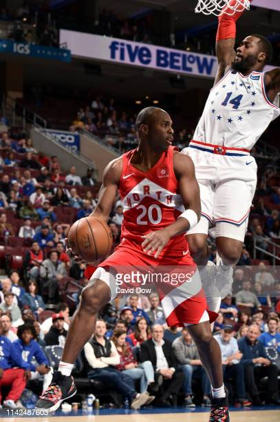 Jodie Meeks of the Toronto Raptors goes to the basket against the Philadelphia 76ers during Game Six of the Eastern Conference Semifinals of the 2019...