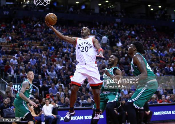 Jodie Meeks of the Toronto Raptors shoots the ball during the second half of an NBA game against the Boston Celtics at Scotiabank Arena on February...