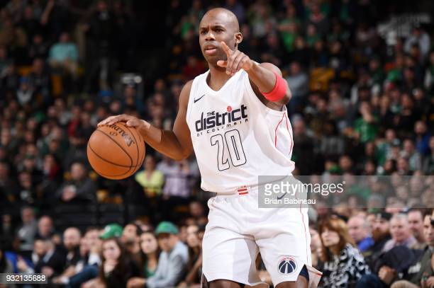 Jodie Meeks of the Washington Wizards handles the ball against the Boston Celtics on March 14 2018 at the TD Garden in Boston Massachusetts NOTE TO...