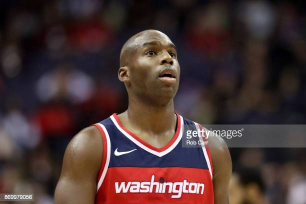 Jodie Meeks of the Washington Wizards looks on against the Cleveland Cavaliers at Capital One Arena on November 3 2017 in Washington DC NOTE TO USER...