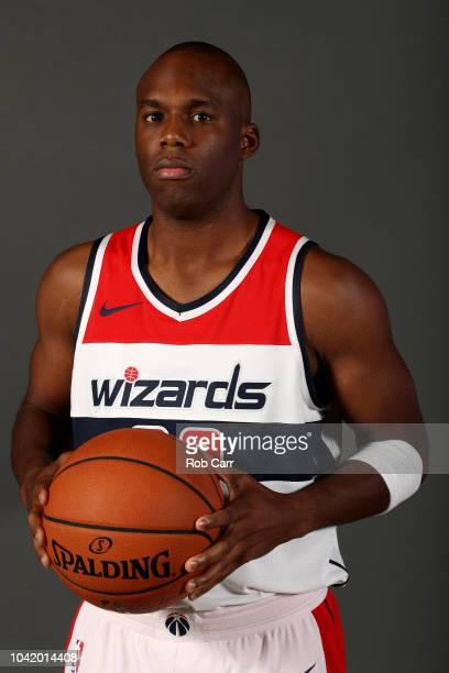Jodie Meeks of the Washington Wizards poses during media day at Entertainment and Sports Arena on September 24 2018 in Washington DC NOTE TO USER...