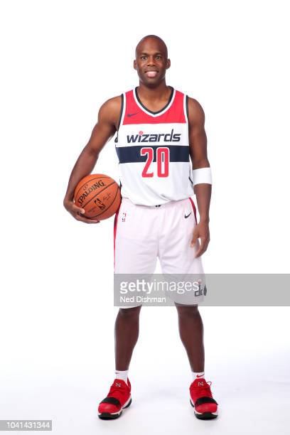 Jodie Meeks of the Washington Wizards poses for a portrait during media day at the Entertainment and Sports Arena at St Elizabeth's on September 24...