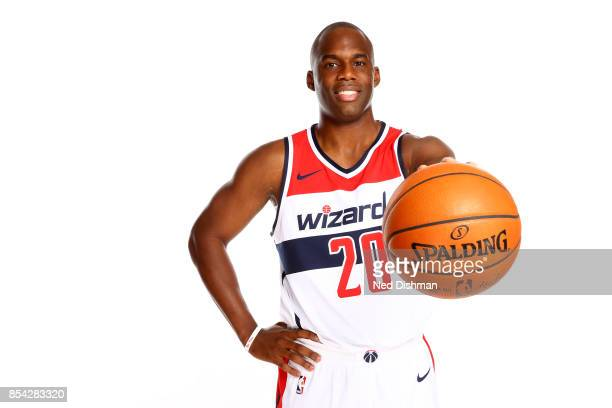 Jodie Meeks of the Washington Wizards poses for a portrait during Media Day on September 25 2017 at Capital One Center in Washington DC NOTE TO USER...