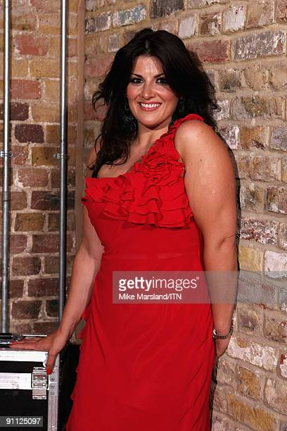 Jodie Prenger poses ahead of the performance at the Newsroom�s Got Talent event held in aid of Leonard Cheshire Disability and Helen Douglas House at...