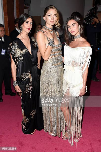 Jodie Snyder Morel, Sofia Sanchez de Betak, and Danielle Morel attend the 2016 CFDA Fashion Awards at the Hammerstein Ballroom on June 6, 2016 in New...