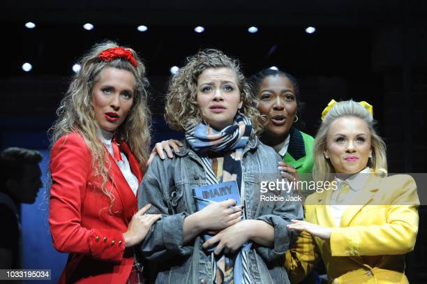 Jodie Steele as Heather ChandlerCarrie Hope Fletcher as Veronica Sawyer T'Shan Williams as Heather Duke and Sophie Isaacs as Heather McNamara in the...