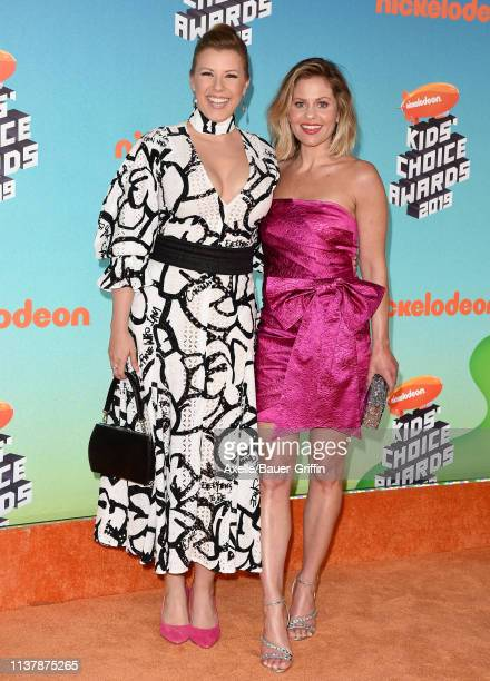 Jodie Sweetin and Candace Cameron-Bure attend Nickelodeon's 2019 Kids' Choice Awards at Galen Center on March 23, 2019 in Los Angeles, California.