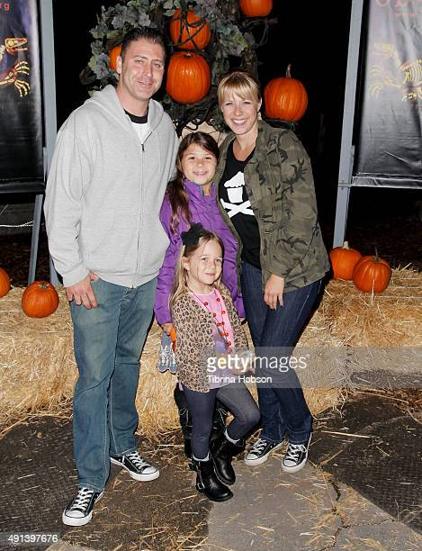 Jodie Sweetin and her family attend the Rise of the Jack O' Lanterns 2nd annual VIP event at Descanso Gardens on October 4 2015 in La...