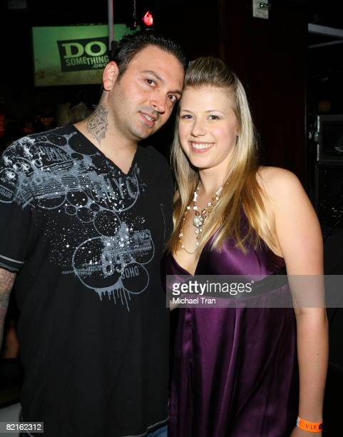 Jodie Sweetin and husband Cody Herpin arrives at the official preparty of the 2008 Teen Choice Awards held at Level 3 nightclub on August 2 2008 in...
