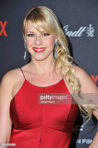 Jodie Sweetin arrives at the 2016 Weinstein Company and Netflix Golden Globes After Party on January 10 2016 in Los Angeles California
