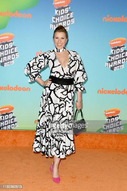 Jodie Sweetin attends Nickelodeon's 2019 Kids' Choice Awards at Galen Center on March 23 2019 in Los Angeles California
