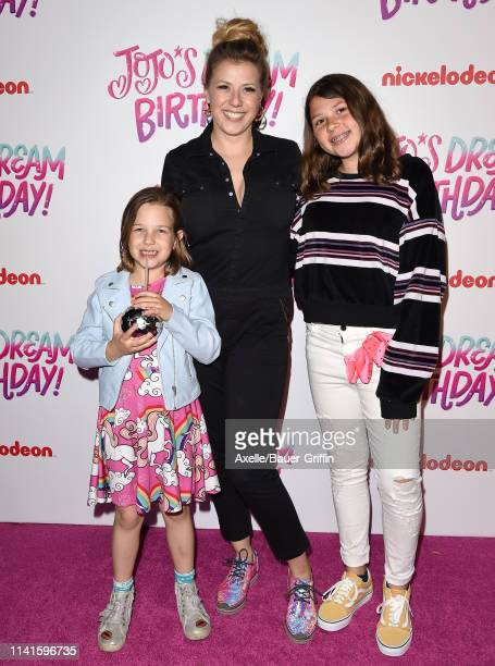 Jodie Sweetin Beatrix Carlin SweetinCoyle and Zoie Laurel May Herpin attend JoJo Siwa's Sweet 16 Birthday celebration at W Hollywood on April 09 2019...
