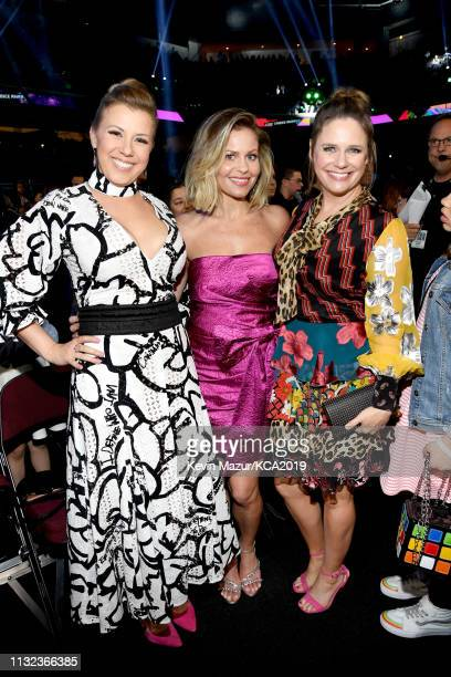 Jodie Sweetin, Candace Cameron Bure, and Andrea Barber attend Nickelodeon's 2019 Kids' Choice Awards at Galen Center on March 23, 2019 in Los...