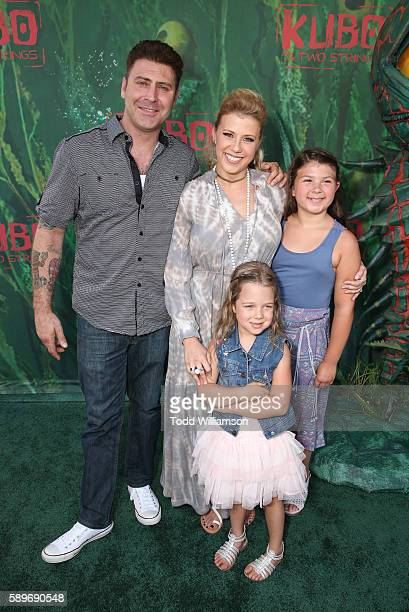 Jodie Sweetin daughter's Zoie Laurel May Herpin and Beatrix Carlin SweetinCoyle attend the premiere of Focus Features' Kubo And The Two Strings at...