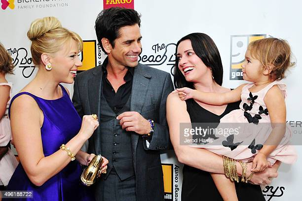 Jodie Sweetin John Stamos Paget Brewster and Layla Golfieri attend the 2nd Annual Goodwill Gala at Laguna Cliffs Marriott on November 7 2015 in Dana...