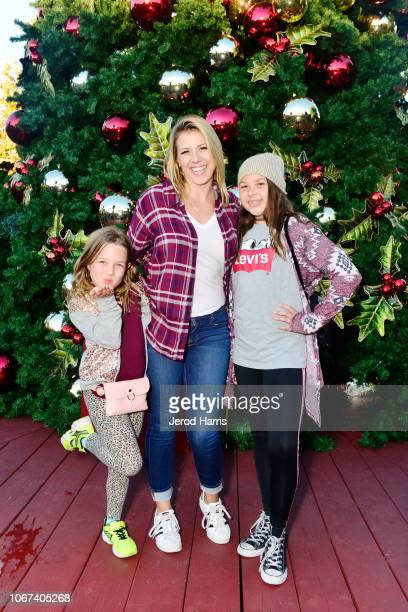 Jodie Sweetin Visits annual Knott's Merry Farm with daughters Zoie and Beatrix on December 1 2018 in Buena Park California
