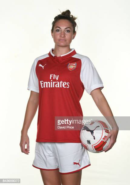 Jodie Taylor of Arsenal Women during the Arsenal Women 1st Team Photocall at London Colney on September 6 2017 in St Albans England