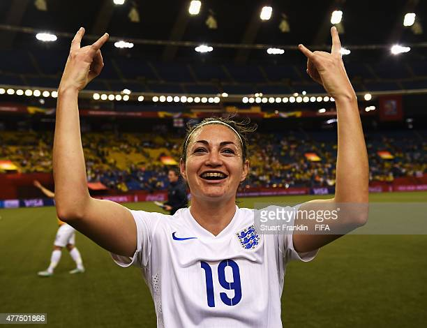 Jodie Taylor of England celebrates after winning the FIFA Womens's World Cup Group F match between England and Colombia at Olympic Stadium on June 17...
