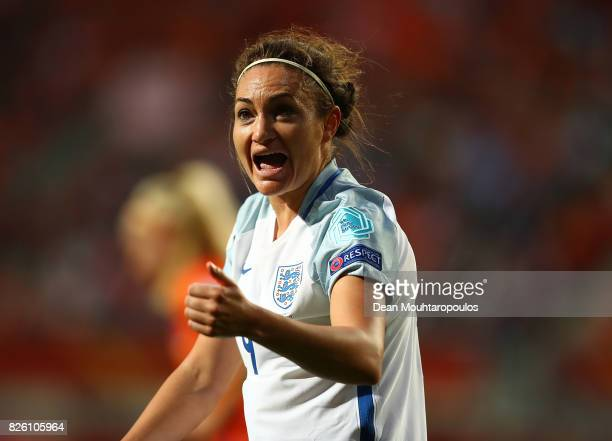 Jodie Taylor of England reacts during the UEFA Women's Euro 2017 Semi Final match between Netherlands and England at De Grolsch Veste Stadium on...